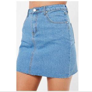 Missguided high waisted denim skirt